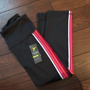 Side stripe retro leggings